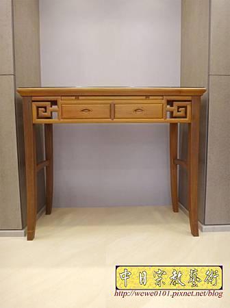 M15007.系統櫃佛堂設計 神桌空間 彎角四尺二柚木神桌.JPG