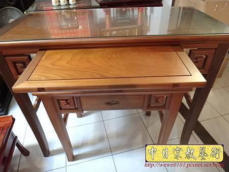 M15208.彎腳佛桌樣式 柚木4尺2神桌.JPG