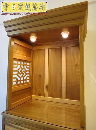 M15304.現代神櫥設計 佛櫥製作 實木2尺9公媽櫥.JPG