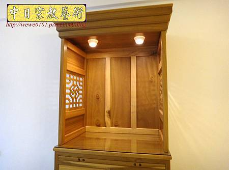 M15306.現代神櫥設計 佛櫥製作 實木2尺9公媽櫥.JPG