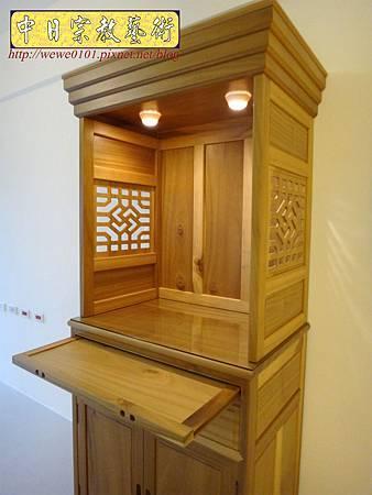 M15308.現代神櫥設計 佛櫥製作 實木2尺9公媽櫥.JPG