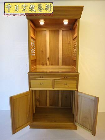 M15310.現代神櫥設計 佛櫥製作 實木2尺9公媽櫥.JPG