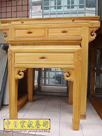 M15801.台灣檜木神桌 3尺6佛桌樣式 明式檜木神桌.JPG