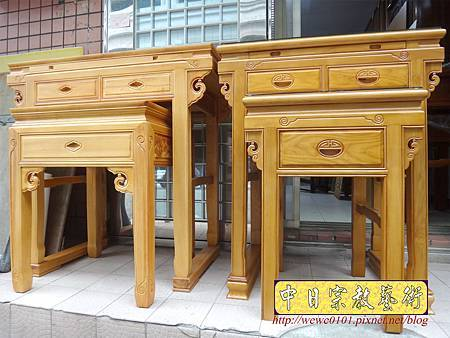M15802.台灣檜木神桌 3尺6佛桌樣式 明式檜木神桌.JPG