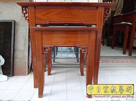 M15902.現代神桌設計 彎腳發字佛桌製作 花梨木2尺9神桌.JPG