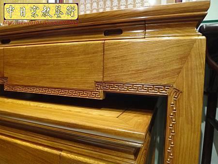 M16102.現代神桌樣式 彎腳佛桌製作 2尺9花梨木神桌.JPG