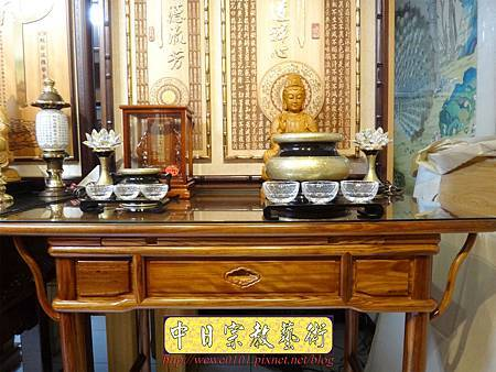 M16305.現代佛桌設計 3尺6神桌樣式 柚木小神桌製作.JPG