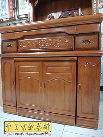 M16602.收納式神桌款 4尺2櫃型佛桌 檜木神桌製作.JPG