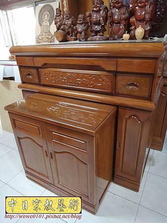 M16605.收納式神桌款 4尺2櫃型佛桌 檜木神桌製作.JPG