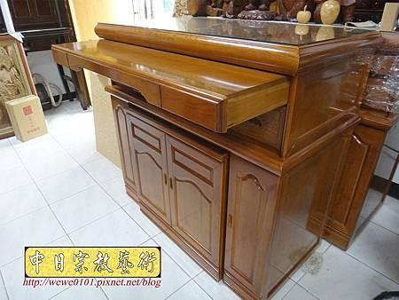 M16606.收納式神桌款 4尺2櫃型佛桌 檜木神桌製作.JPG