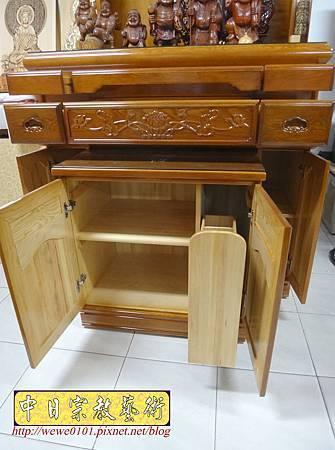 M16608.收納式神桌款 4尺2櫃型佛桌 檜木神桌製作.JPG