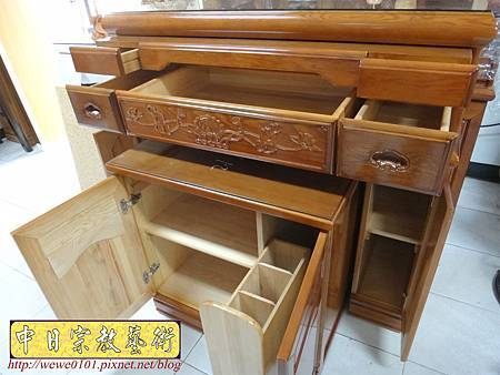 M16609.收納式神桌款 4尺2櫃型佛桌 檜木神桌製作.JPG