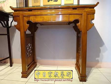 M16901.仿古神桌 翹頭佛桌樣式 4尺2神桌設計.JPG
