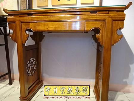 M16902.仿古神桌 翹頭佛桌樣式 4尺2神桌設計.JPG