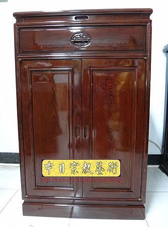 M17001.公媽桌精選樣示2尺2雞翅木櫃式神桌祖先桌.JPG