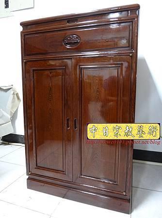 M17002.公媽桌精選樣示2尺2雞翅木櫃式神桌祖先桌.JPG
