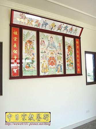 C9705.傳統神明廳神桌背景設計 八尊神明彩.JPG