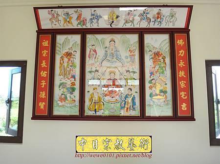 C9707.傳統神明廳神桌背景設計 八尊神明彩.JPG