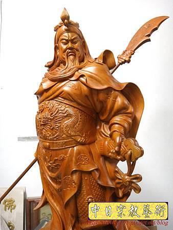 L5608.神像精品雕刻-關公 關老爺 關聖帝君木雕藝品2尺9.JPG