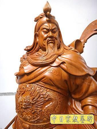 L5615.神像精品雕刻-關公 關老爺 關聖帝君木雕藝品2尺9.JPG
