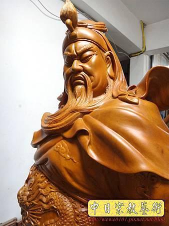 L5621.神像精品雕刻-關公 關老爺 關聖帝君木雕藝品2尺9.JPG