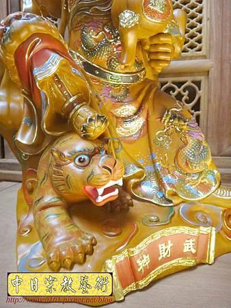 L5804.武財神木雕 八路財神雕刻 一尺六武財神趙公明.JPG