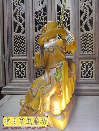 L5808.武財神木雕 八路財神雕刻 一尺六武財神趙公明.JPG