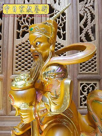 L5810.武財神木雕 八路財神雕刻 一尺六武財神趙公明.JPG