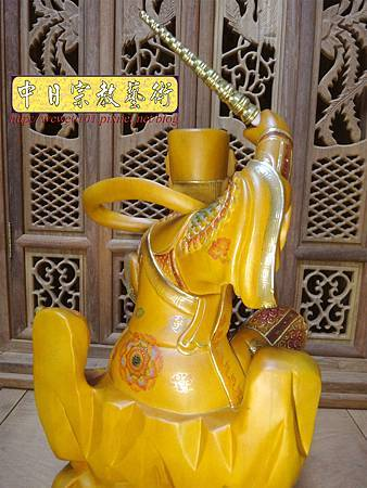 L5821.武財神木雕 八路財神雕刻 一尺六武財神趙公明.JPG