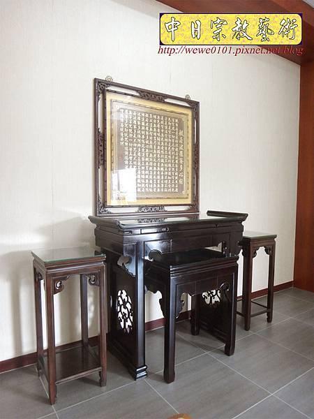 N29403.仿古佛堂設計 仿古式神桌製作 中式花架配置 窗花心經木雕金箔.JPG