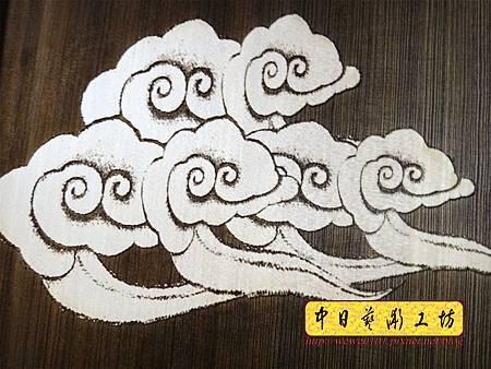 H16804.陽雕佛字掛匾 心經雷射雕刻 實木雕刻製作.JPG