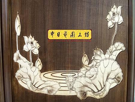 H16807.陽雕佛字掛匾 心經雷射雕刻 實木雕刻製作.JPG