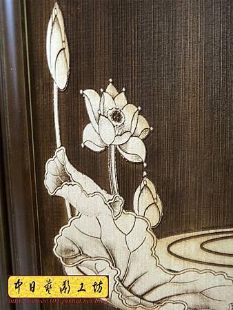 H16809.陽雕佛字掛匾 心經雷射雕刻 實木雕刻製作.JPG