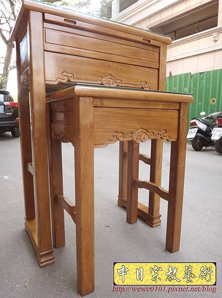 M17407.特製2尺9神桌 4尺2高 柚木佛桌樣式.JPG