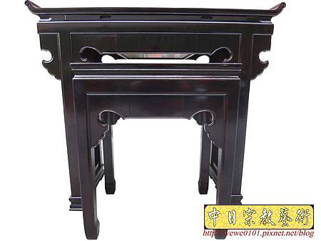 M17701.時尚神桌設計 3尺6神桌製作 窗花板神桌翹頭佛桌款式.JPG