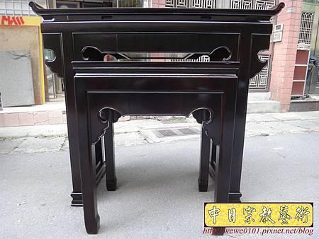 M17702.時尚神桌設計 3尺6神桌製作 窗花板神桌翹頭佛桌款式.JPG