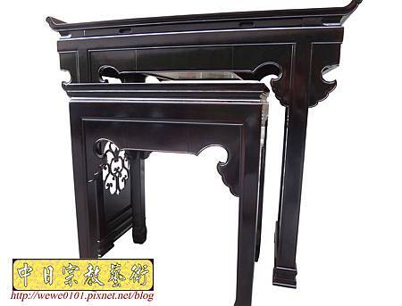 M17703.時尚神桌設計 3尺6神桌製作 窗花板神桌翹頭佛桌款式.JPG