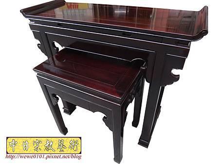 M17704.時尚神桌設計 3尺6神桌製作 窗花板神桌翹頭佛桌款式.JPG