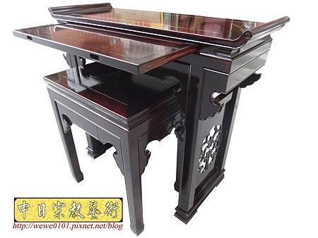 M17705.時尚神桌設計 3尺6神桌製作 窗花板神桌翹頭佛桌款式.JPG