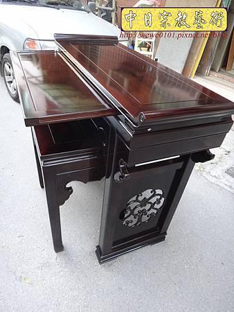 M17707.時尚神桌設計 3尺6神桌製作 窗花板神桌翹頭佛桌款式.JPG