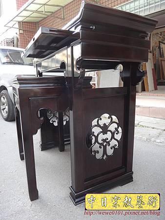 M17708.時尚神桌設計 3尺6神桌製作 窗花板神桌翹頭佛桌款式.JPG