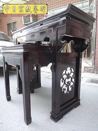 M17710.時尚神桌設計 3尺6神桌製作 窗花板神桌翹頭佛桌款式.JPG