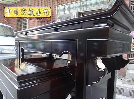 M17711.時尚神桌設計 3尺6神桌製作 窗花板神桌翹頭佛桌款式.JPG