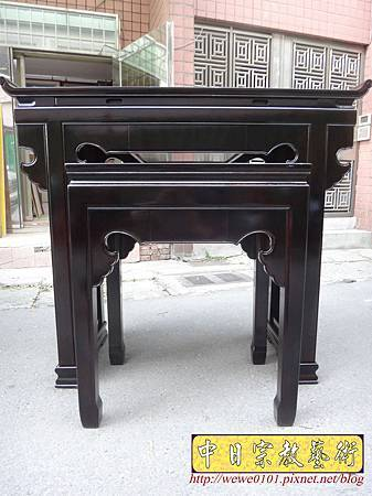 M17716.時尚神桌設計 3尺6神桌製作 窗花板神桌翹頭佛桌款式.JPG