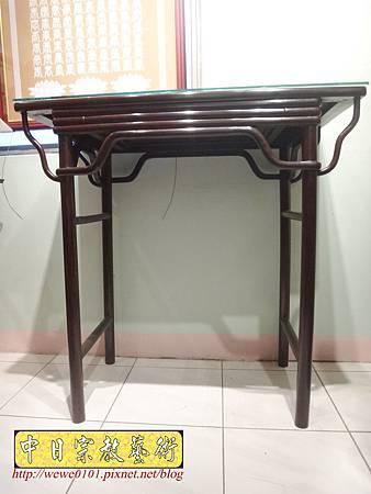 M17801.時尚神桌款式 3尺6現代佛桌設計 雞翅木神桌樣式.JPG