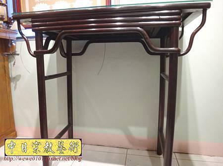 M17803.時尚神桌款式 3尺6現代佛桌設計 雞翅木神桌樣式.JPG