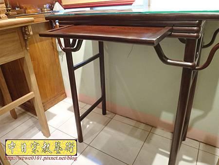 M17806.時尚神桌款式 3尺6現代佛桌設計 雞翅木神桌樣式.JPG