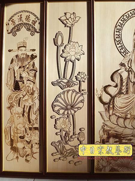 A10902.現代佛堂素雅神桌神像聯對雕刻 5尺8觀世音菩薩佛像佛聯.jpg