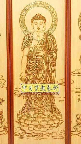 A14502.西方三聖木雕 7尺佛桌佛像木雕佛聯.jpg