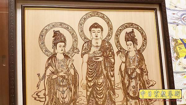 A15405.小佛桌佛聯 西方三聖佛像雕刻.jpg